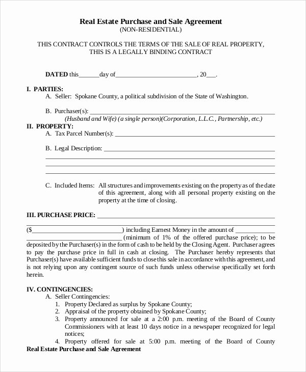 Estate Sale Contract Template Awesome Sale Property Agreement form