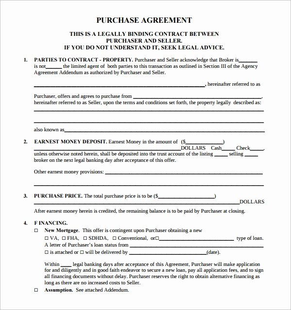 Estate Sale Contract Template Beautiful 14 Sample Real Estate Purchase Agreement Templates