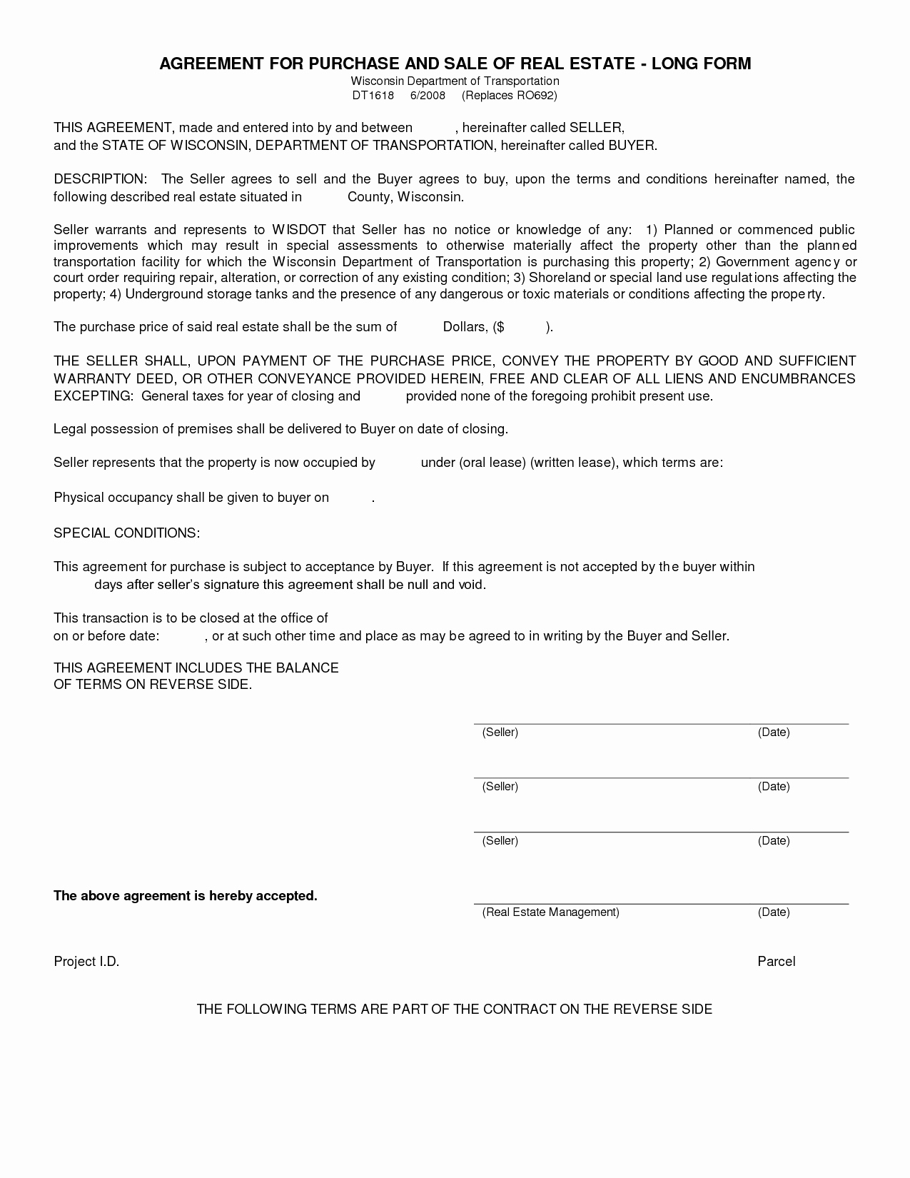 Estate Sale Contract Template Beautiful Free Blank Purchase Agreement form Images Agreement to