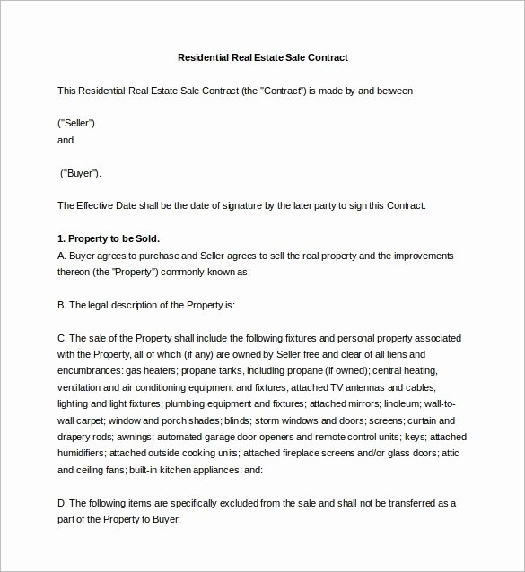 Estate Sale Contract Template Beautiful Sales Agreement 10 Download Free Documents In Word Pdf