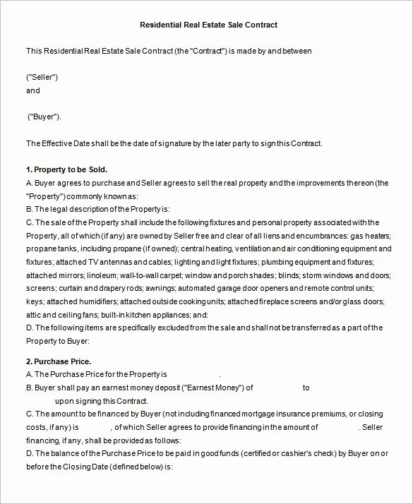 Estate Sale Contract Template Best Of 13 Real Estate Contract Templates Word Pages Docs