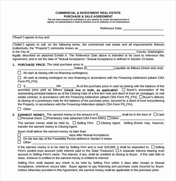 Estate Sale Contract Template Best Of 8 Real Estate Purchase Agreement Samples Templates