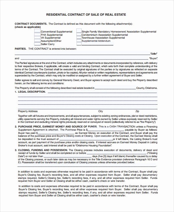 Estate Sale Contract Template Best Of 8 Sample Sales Contract Templates