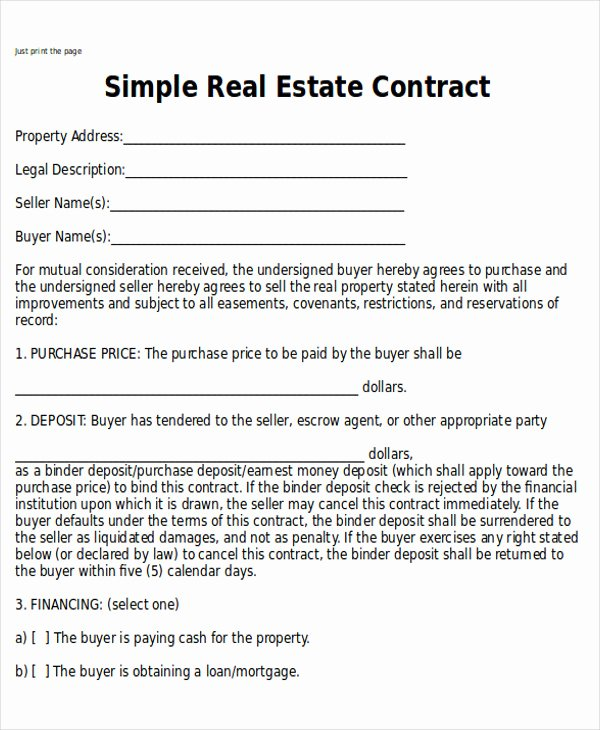 Estate Sale Contract Template Best Of Indiana Real Estate Purchase Agreement 2017
