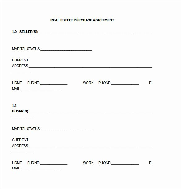 Estate Sale Contract Template Lovely Effective Purchase Contract or Purchase Agreement Template