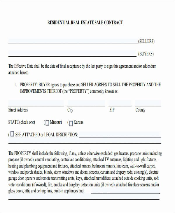 Estate Sale Contract Template Luxury 7 Sales Contract Template – Free Downloadable Samples