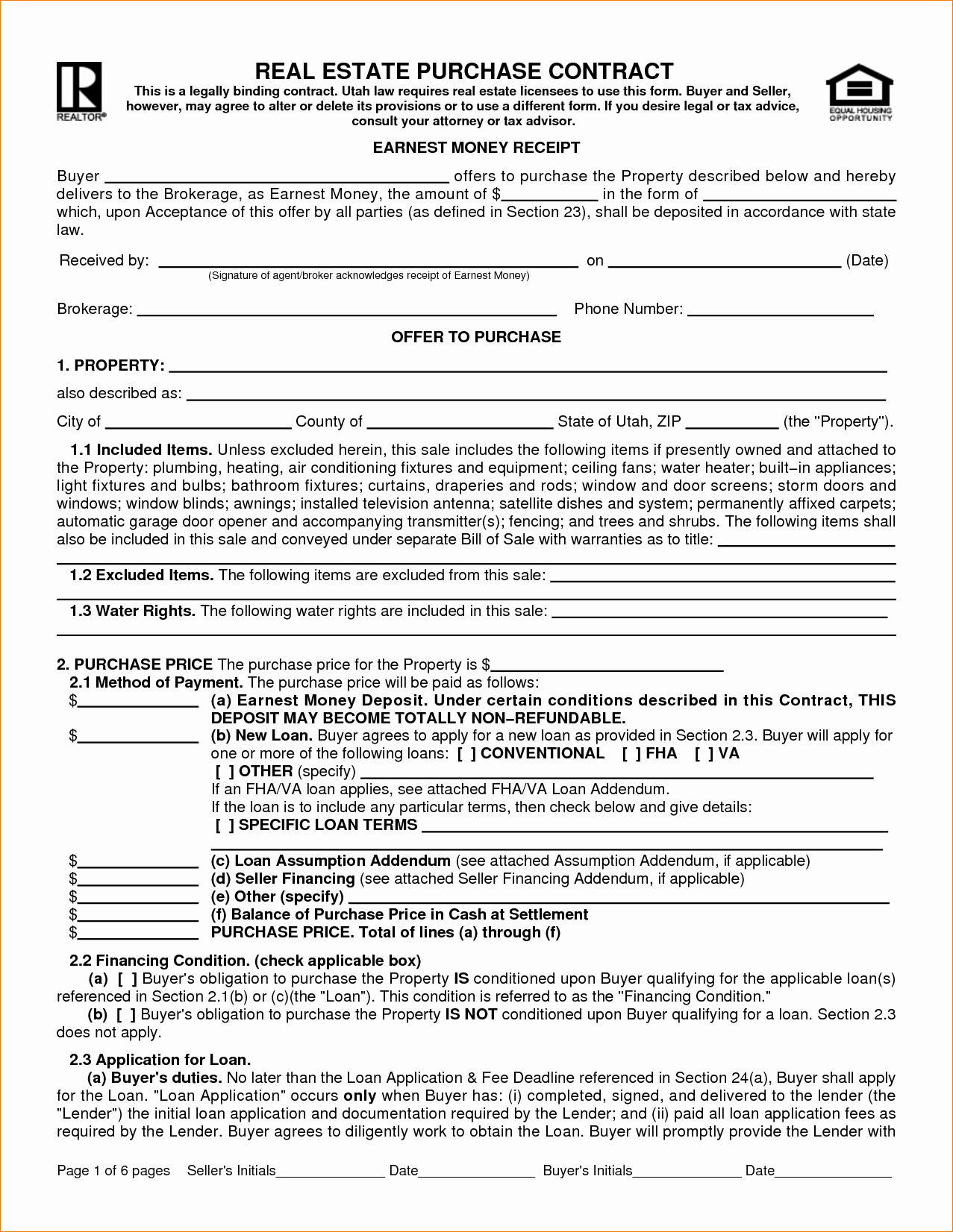 Estate Sale Contract Template New 8 Real Estate Sales Contract Template