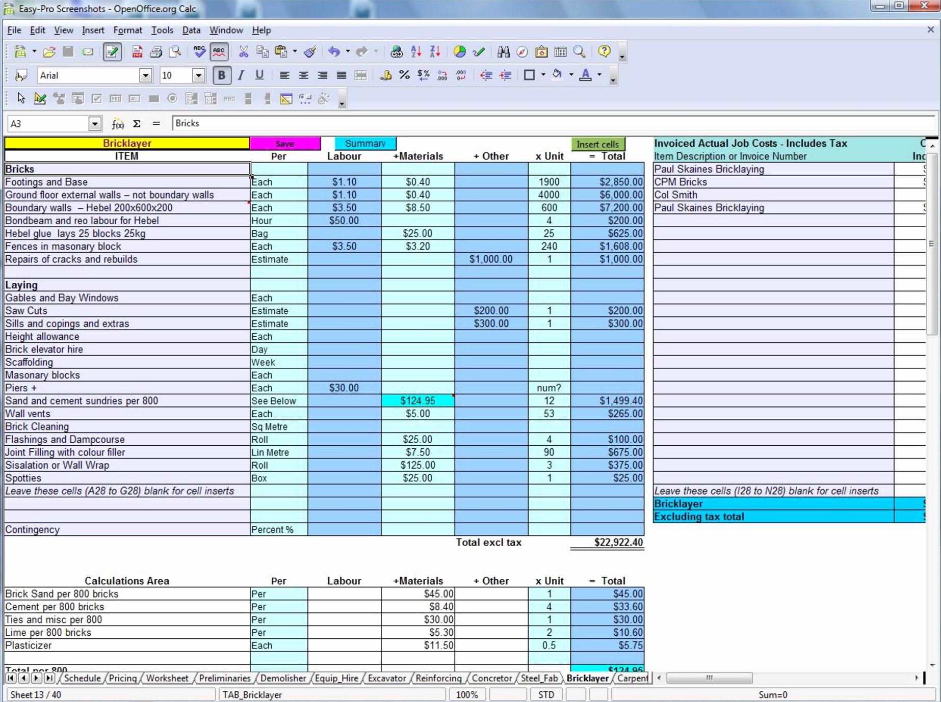 Estimating Template for Construction Awesome 5 Free Construction Estimating & Takeoff Products Perfect