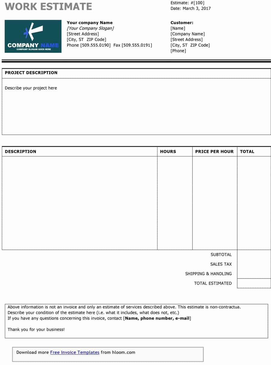 Estimating Template for Construction Best Of Construction Estimating Template Free Example Of