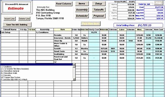 Estimating Template for Construction Unique All Worksheets Construction Estimation Worksheets