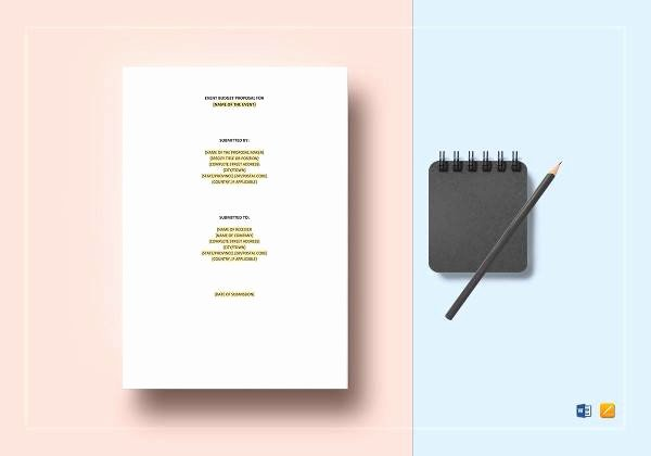 Event Budget Proposal Template Awesome 25 Sample event Proposal Templates – Psd Pdf Word