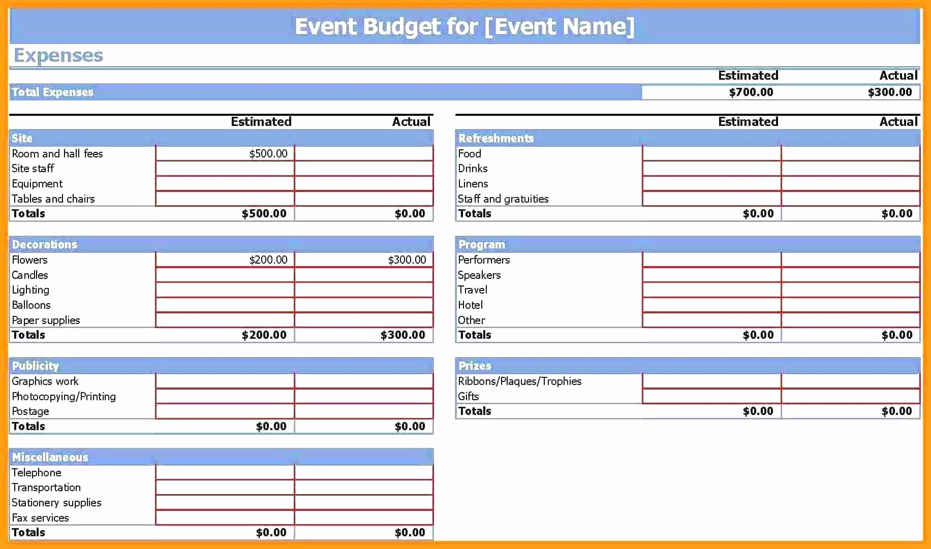 Event Budget Proposal Template Best Of Template Bud Proposal Template Word Business Plan