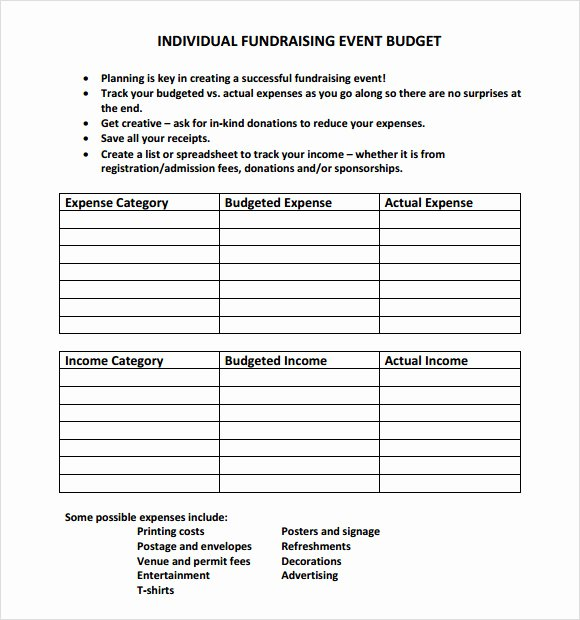 Event Budget Proposal Template Elegant 9 event Bud Samples
