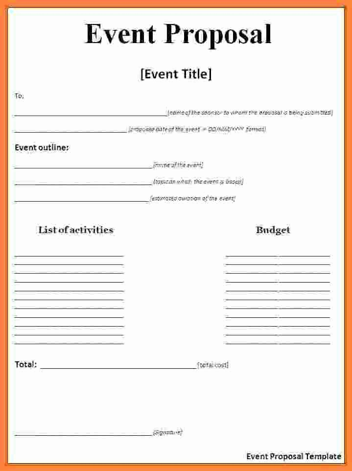 Event Budget Proposal Template Fresh event Proposal Template Doc