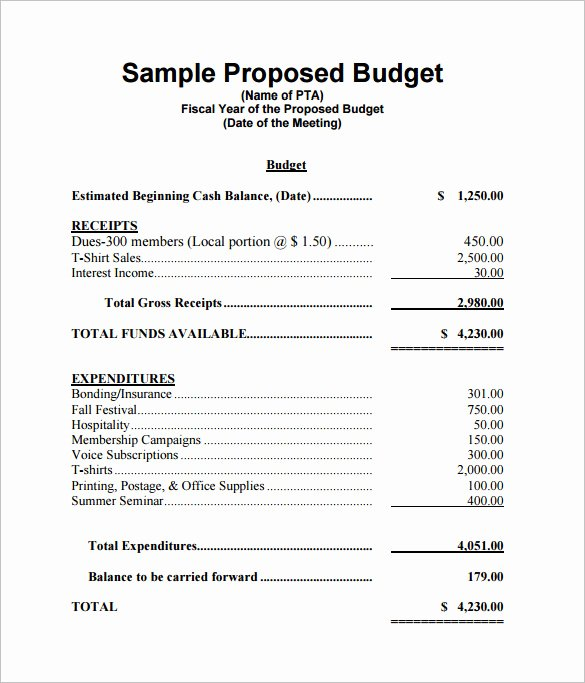 Event Budget Proposal Template Lovely Bud Proposal Templates 18 Free Word Pdf format