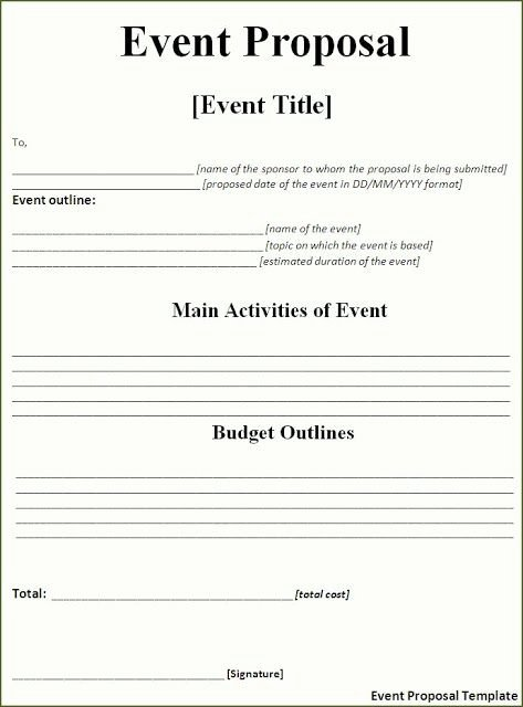 Event Budget Proposal Template Luxury event Proposal Template Free Download