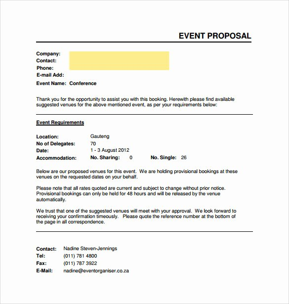 Event Budget Proposal Template Luxury Sample event Proposal Template 15 Free Documents In Pdf