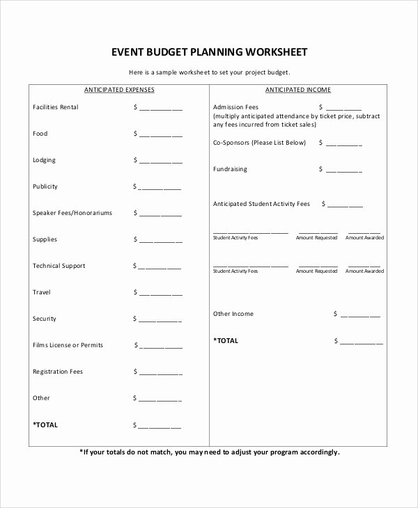 Event Budget Proposal Template New 12 Sample event Proposals