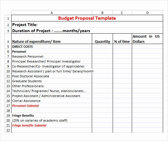 Event Budget Proposal Template New 17 Sample Bud Proposal Templates to Download