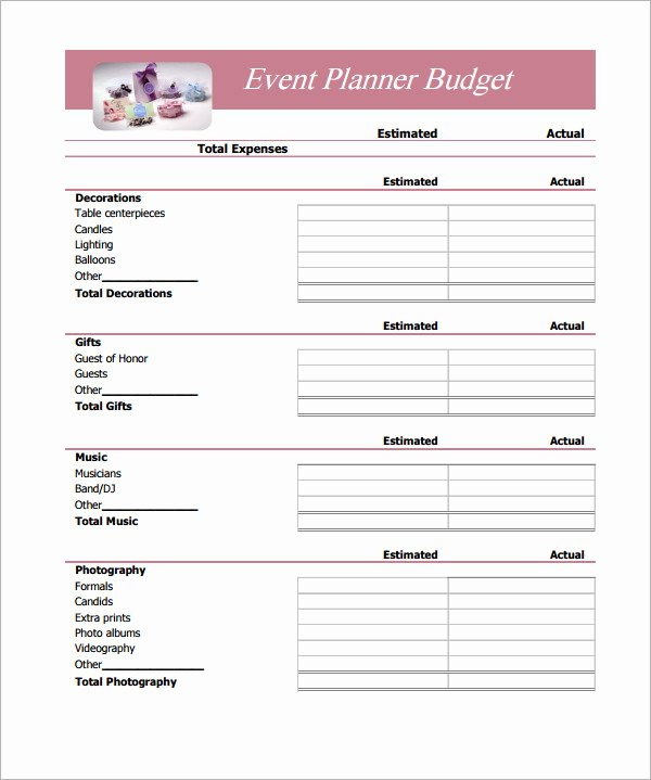 Event Budget Proposal Template New Simple Bud Template 14 Download Free Documents In