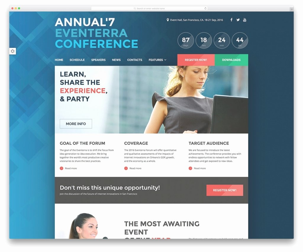 Event Calendar Template for Website Awesome 30 Awesome Wordpress themes for Conference and event 2018