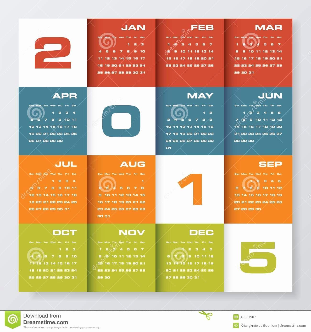 Event Calendar Template for Website Awesome Simple Editable Vector Calendar 2015 Stock Vector Image