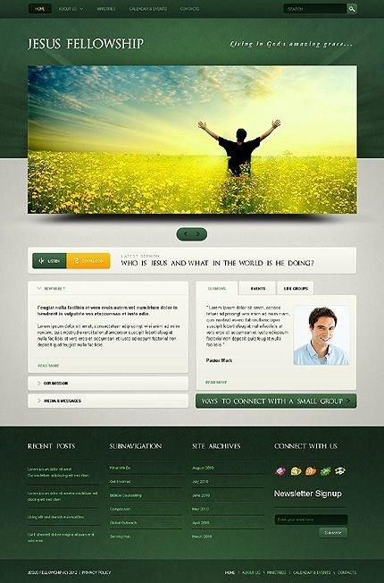church christian website templates