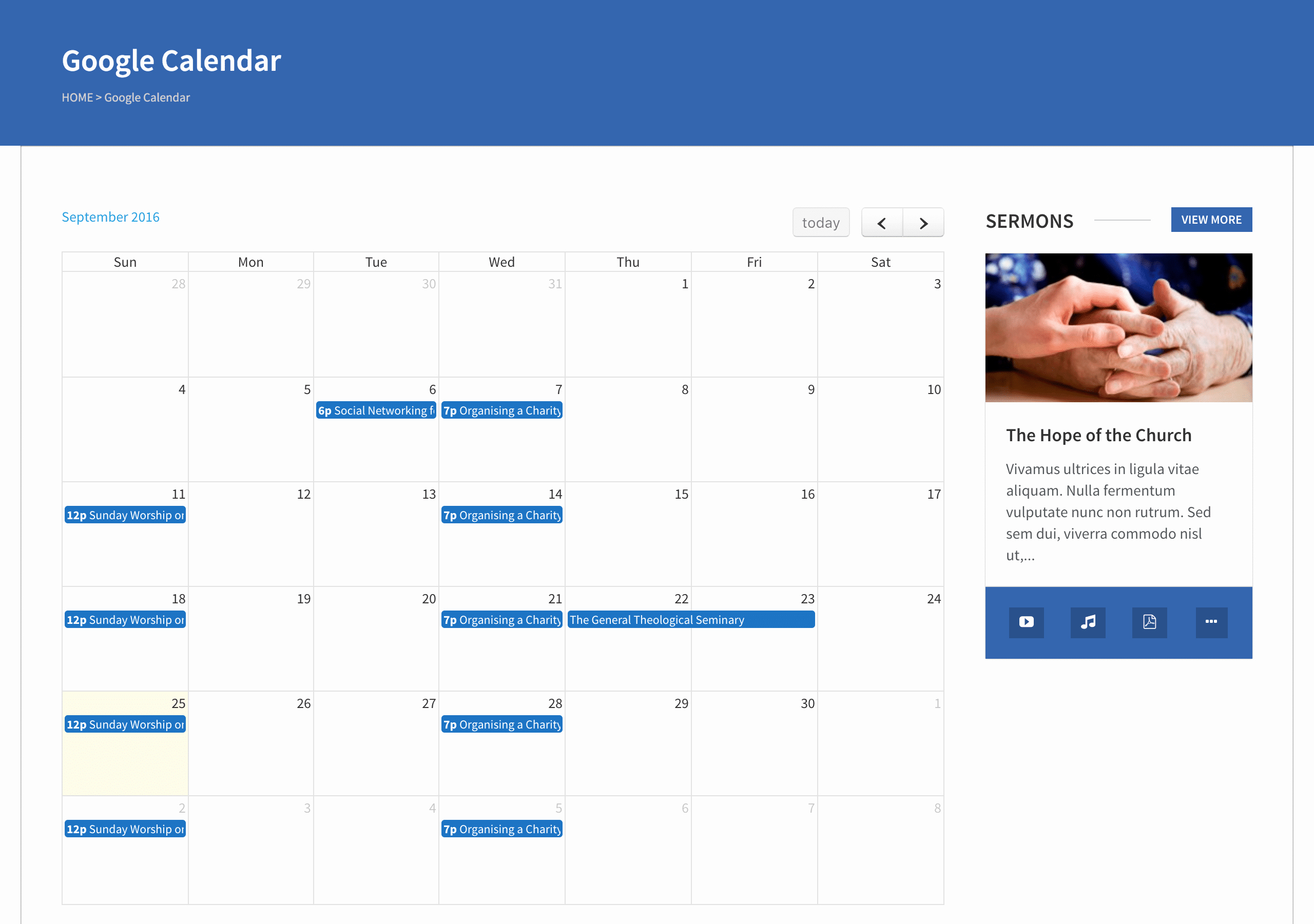 Event Calendar Template for Website Elegant Google Calendar Wplook Documentation