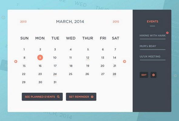 Event Calendar Template for Website Fresh 40 Best Free Calendar Templates Psd Css3 Wallpapers