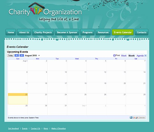 Event Calendar Template for Website Fresh Charity Template Design 133 Charity Website Template