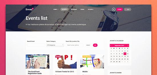 Event Calendar Template for Website Fresh Joomla event Template Templates Station