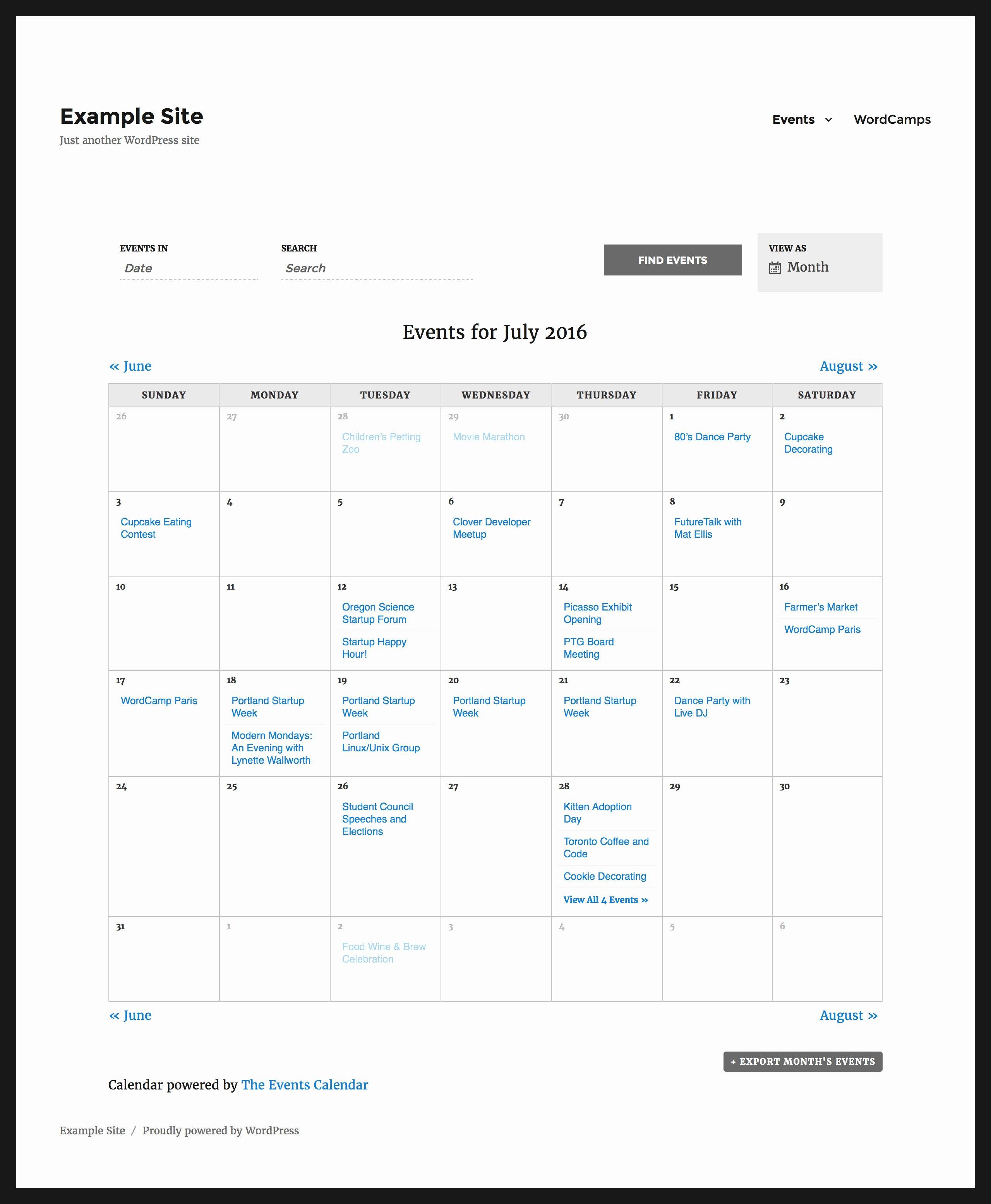 Event Calendar Template for Website Luxury Luxury 41 Sample Free event Calendar for Website