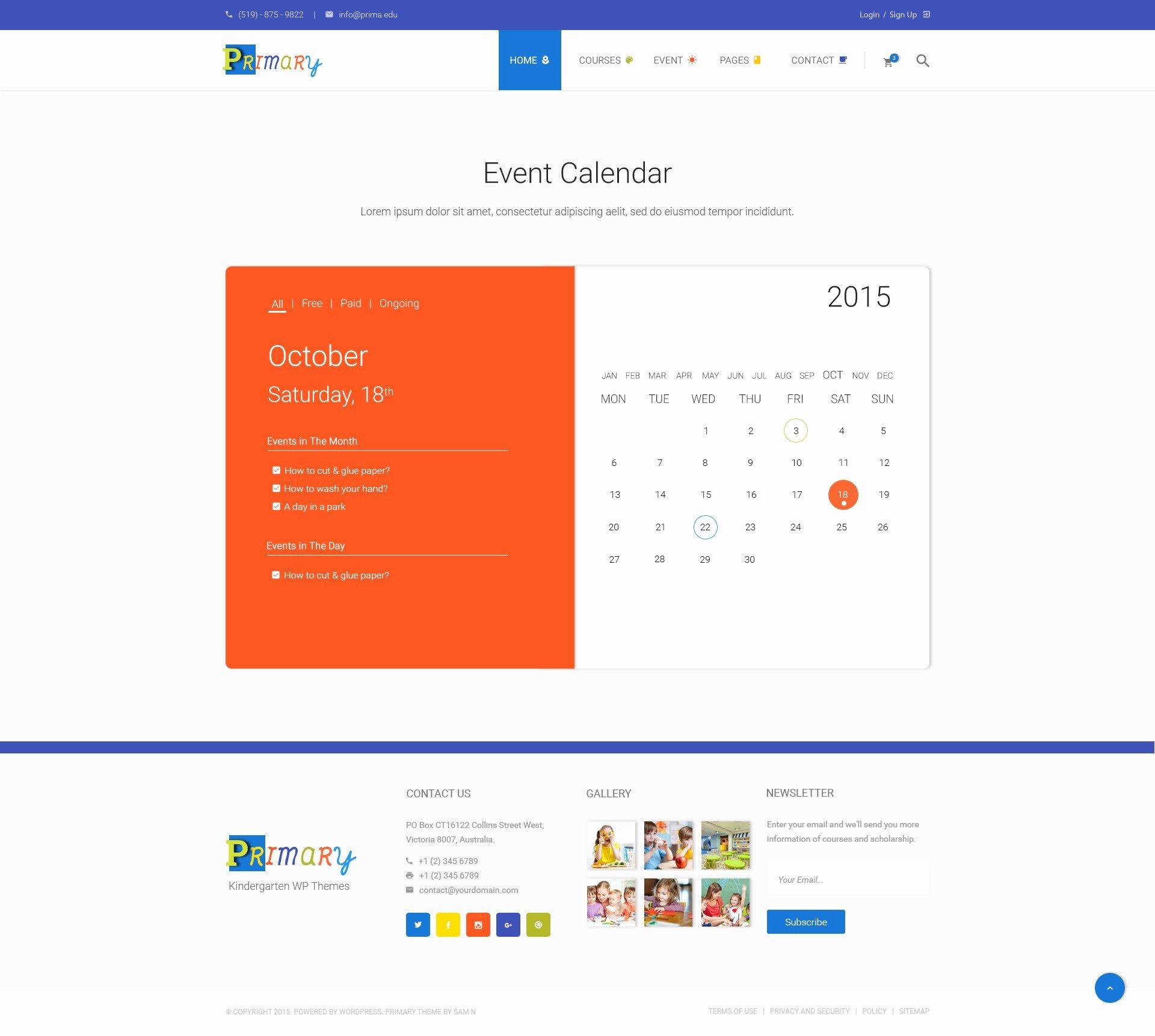 Event Calendar Template for Website Unique event Calendar Website Template Free Calendar Collection