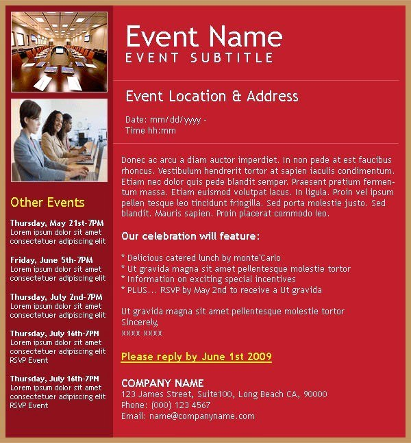 Event Invitation Email Template Beautiful Corporate event Invitation Templates Templates Resume