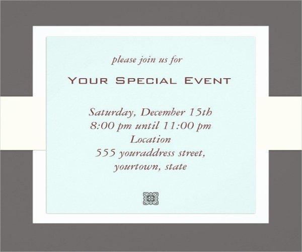 event invitation psd