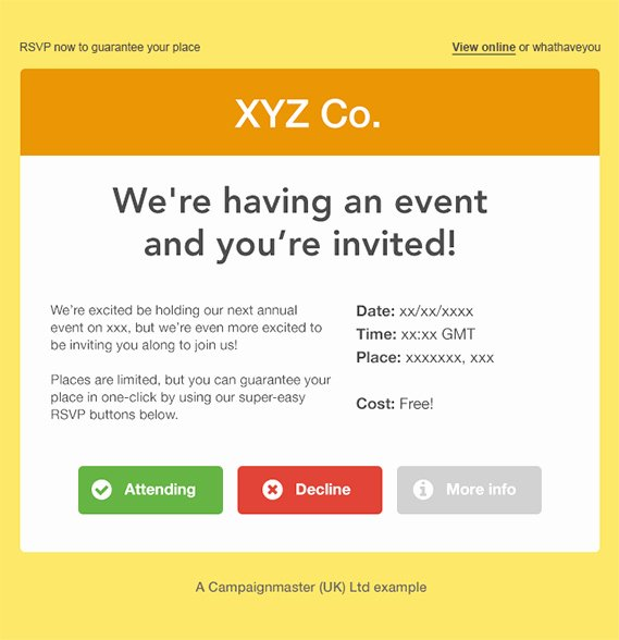 Event Invitation Email Template Fresh How to Create A Perfect Email Invitation Campaignmaster