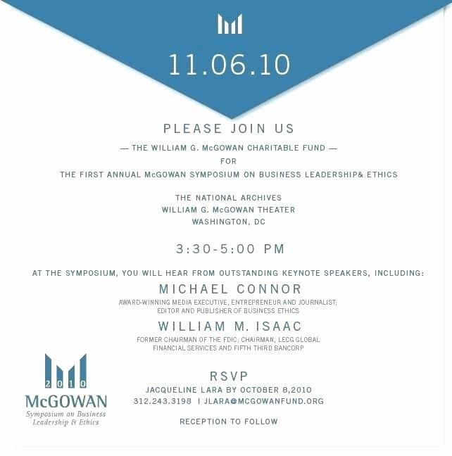 Event Invitation Email Template Lovely Business Invitation Template Professional Invitations