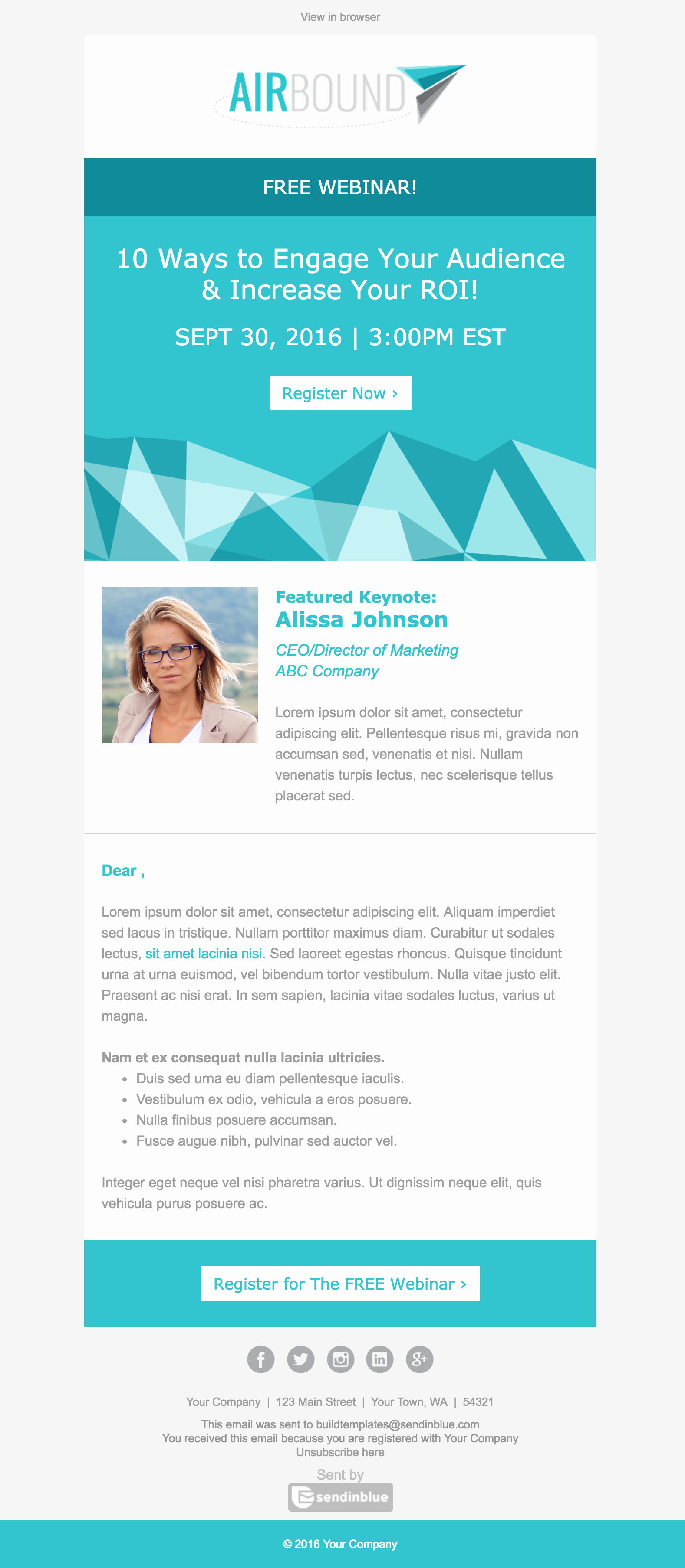 Event Invitation Email Template Luxury top 8 B2b Email Templates for Marketers In 2017