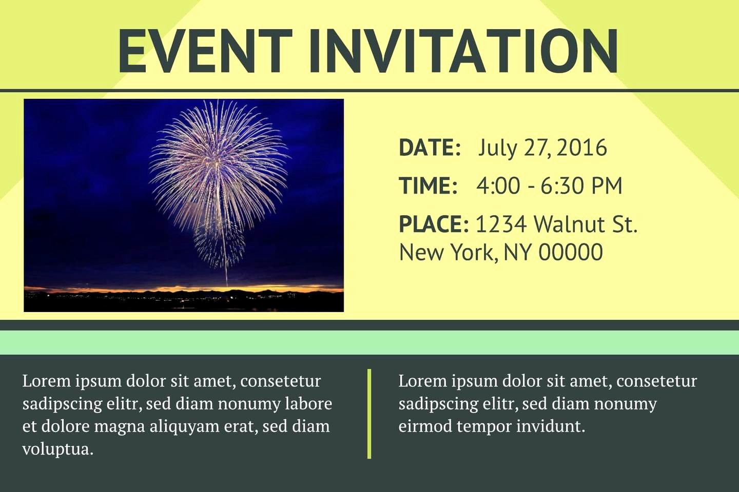 Event Invitation Email Template New 3 Free event Invitation Templates & Examples Lucidpress
