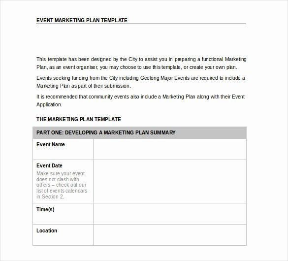 word marketing plan