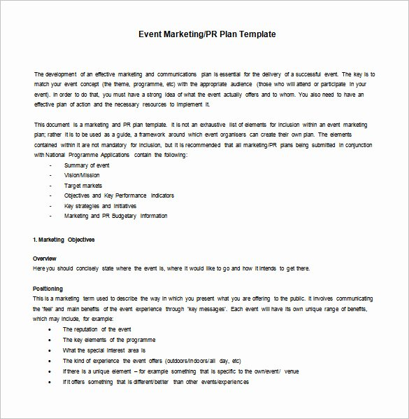 Event Marketing Plan Template Inspirational 8 Marketing Action Plan Templates Doc Pdf