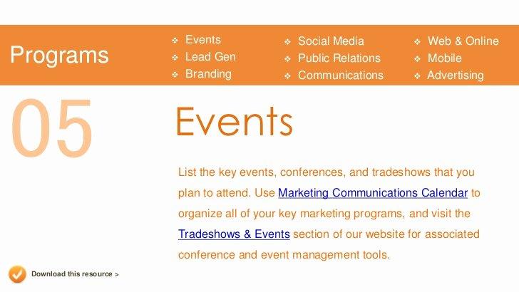 Event Marketing Plan Template Inspirational Marketing Plan Presentation Template