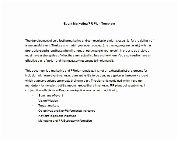 Event Marketing Plan Template New event Planning Template 9 Free Word Pdf Documents