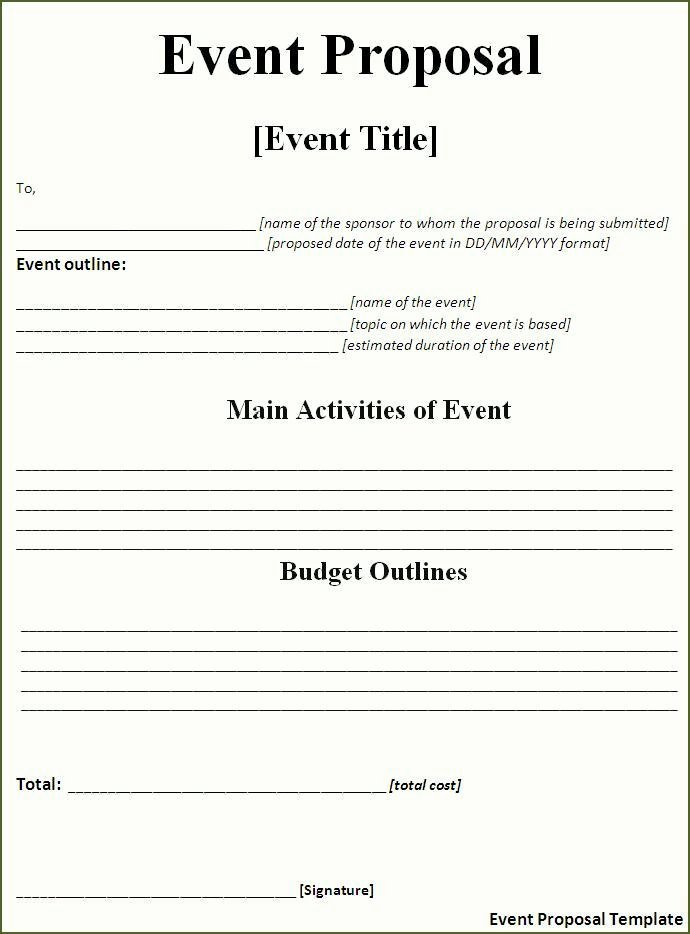 Event One Sheet Template Elegant event Proposal Template