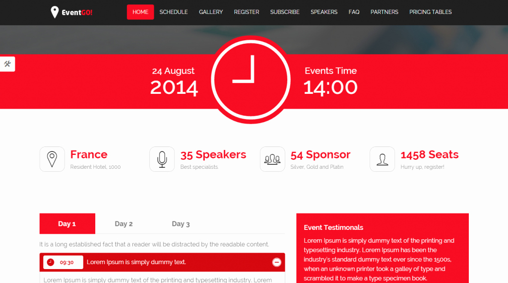 Event One Sheet Template Inspirational 24 Best Conference event HTML Templates