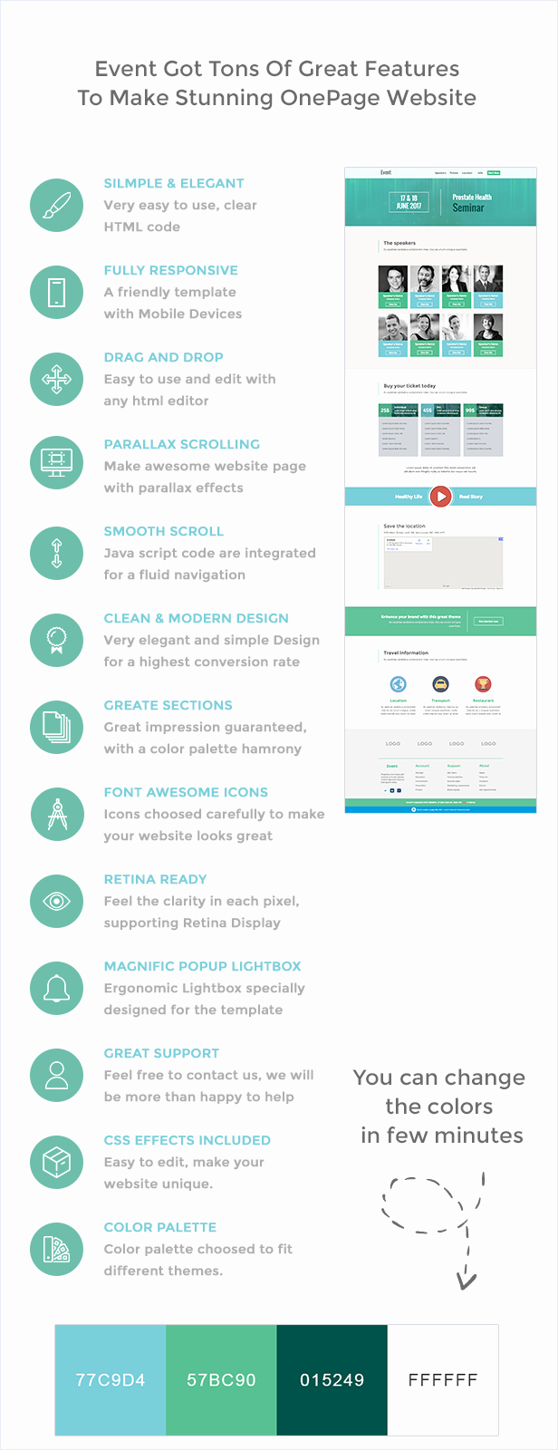 Event One Sheet Template Inspirational event E Page HTML Template by Alphapix