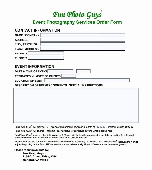 Event Photography Contract Template Best Of Photography Contract Template Pdf Five Disadvantages