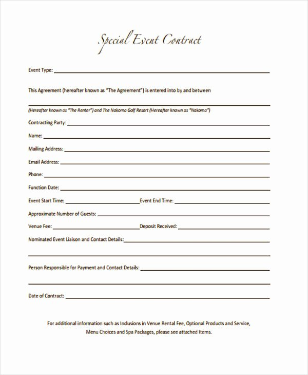 Event Photography Contract Template Elegant 11 event Contract Templates Free Sample Example format