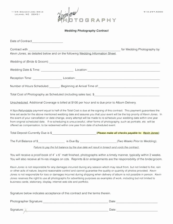 Event Photography Contract Template Luxury Graphy Contract Template Free Wedding Graphy