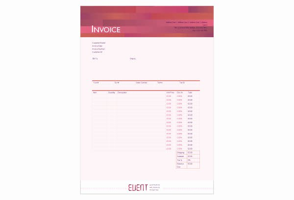Event Planner Invoice Template Best Of event Planner Invoice Template Contract Management